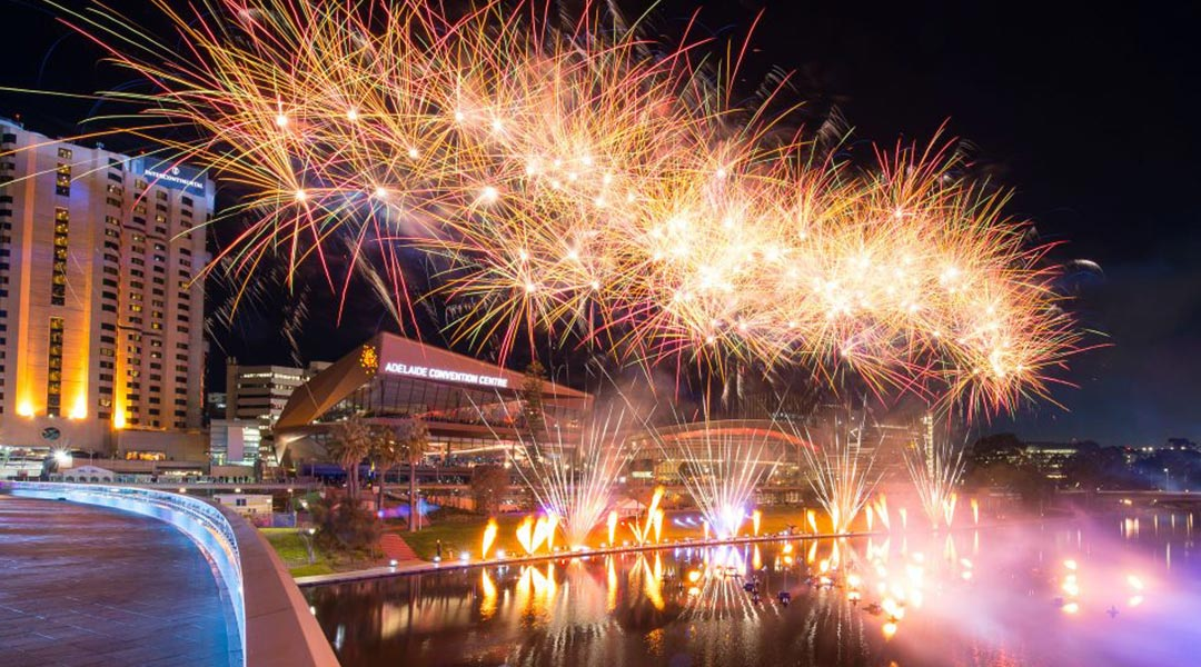 Fireworks Display at Adelaide Conventional Centre
