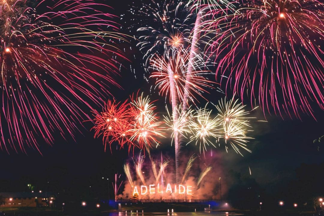 Fireworks Display at River Torrens Adelaide New Years Eve