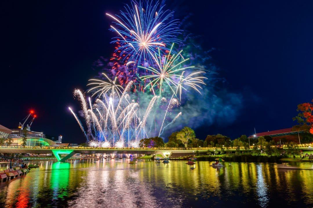 Fireworks Display River Torrens